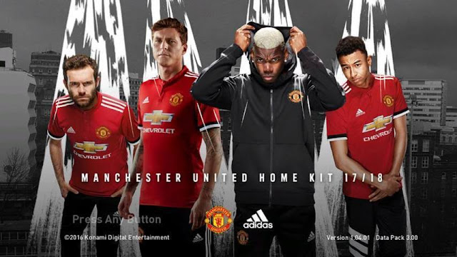 Manchester United Start Screen PES 2017