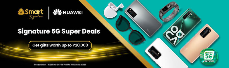 Score freebies up to worth PHP 21,828 with Huawei and Smart Signature 5G Super Deals
