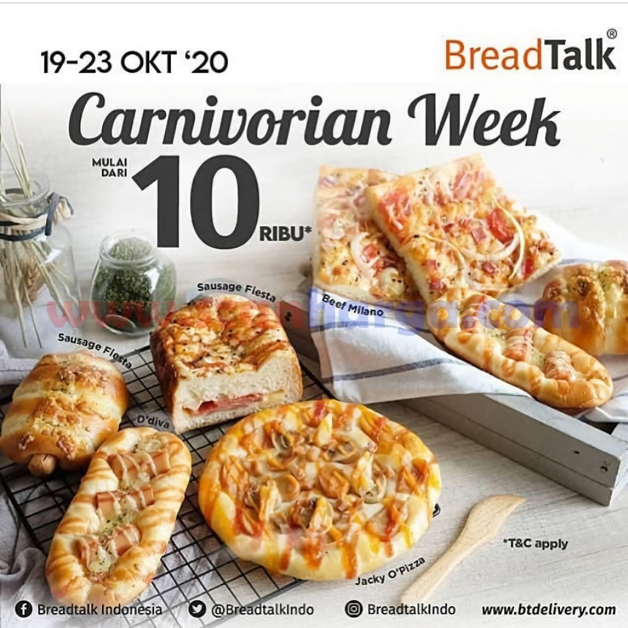 Promo Breadtalk Carnivorian Week [All Meat Variant] mulai dari Rp 10.000*
