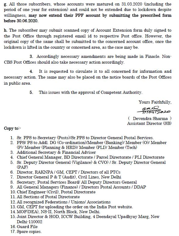 https://www.inindiapost.com/2020/04/Guideline-regarding-relaxation-in-PPF-and-SSA-Account-SB-Order.html