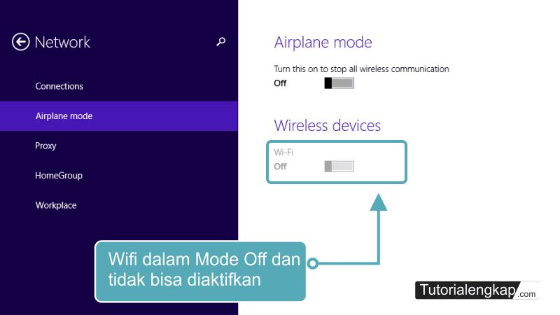 tutorialengkap 2 Cara Mengatasi Wifi Tidak Bisa di Aktifkan (Wifi Off) pada Windows