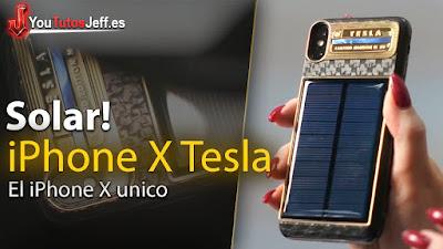 El nuevo iphone x tesla con panel solar y un precio totalmente impactante, se carga solo con el sol.