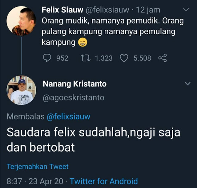 Ustadz Felix Tak Sebut Nama,Tapi BuzzeRp Pada Kebakaran Kolor!