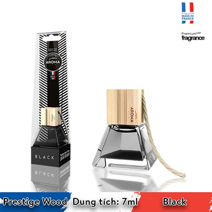 Tinh dầu treo ô tô Aroma Car Prestige Wood 7ml - Black