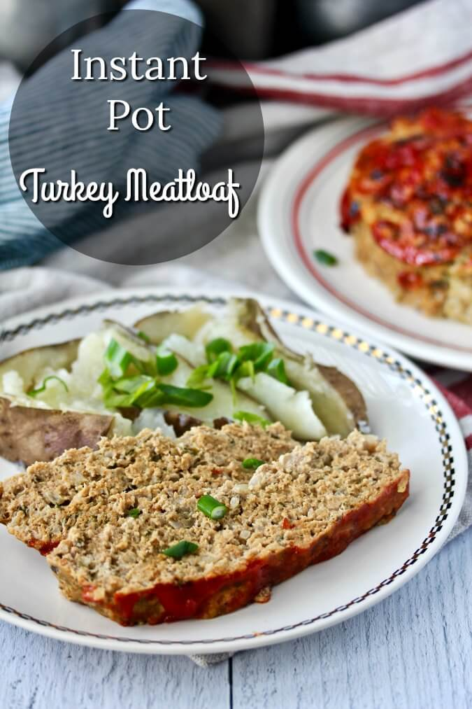 Pressure Cooker Turkey Meatloaf with Potato Wedges