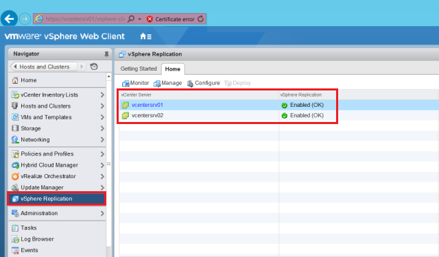 Configuring vSphere Replication 6 - TECHSUPPORT