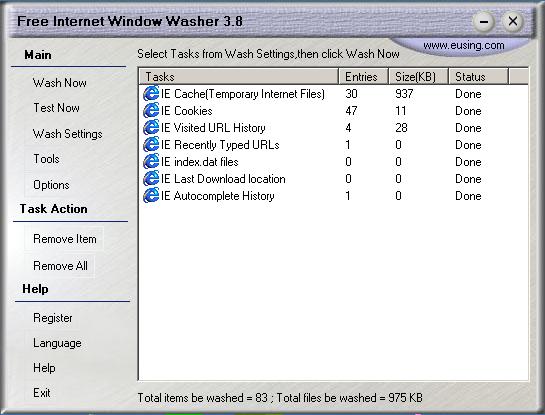 كيف تقوم بتسريع وتنظيف المتصفح مع أداة Free Internet Window Washer