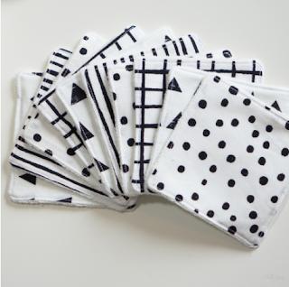 lingettes lavables réutilisables noël zéro déchet