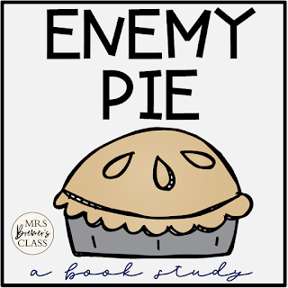 Enemy Pie book study companion activities to go with the picture book by Derek Munson. Perfect for whole class guided reading, small groups, book study groups, or individual student learning. Packed with lots of fun literacy ideas and guided reading activities. Common Core aligned. K-2 #bookstudies #bookstudy #bookcompanion #bookcompanions #picturebookactivities #1stgrade #2ndgrade #literacy #guidedreading  #enemypie