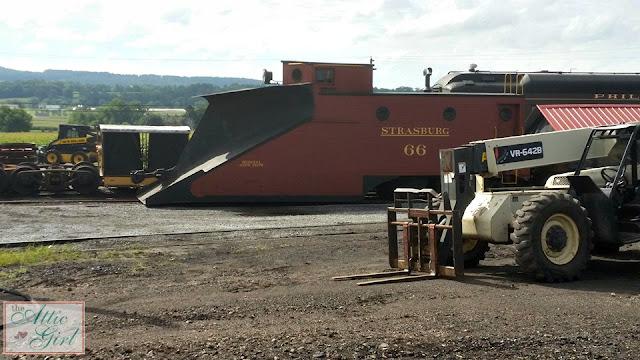 Strasburg Railroad, train snow plow