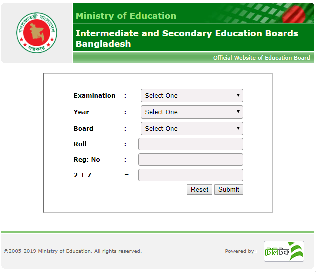 JSC and JDC 2019 Education Board Result in BD