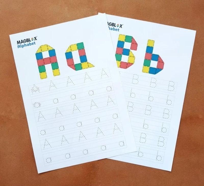 magblox alphabet template