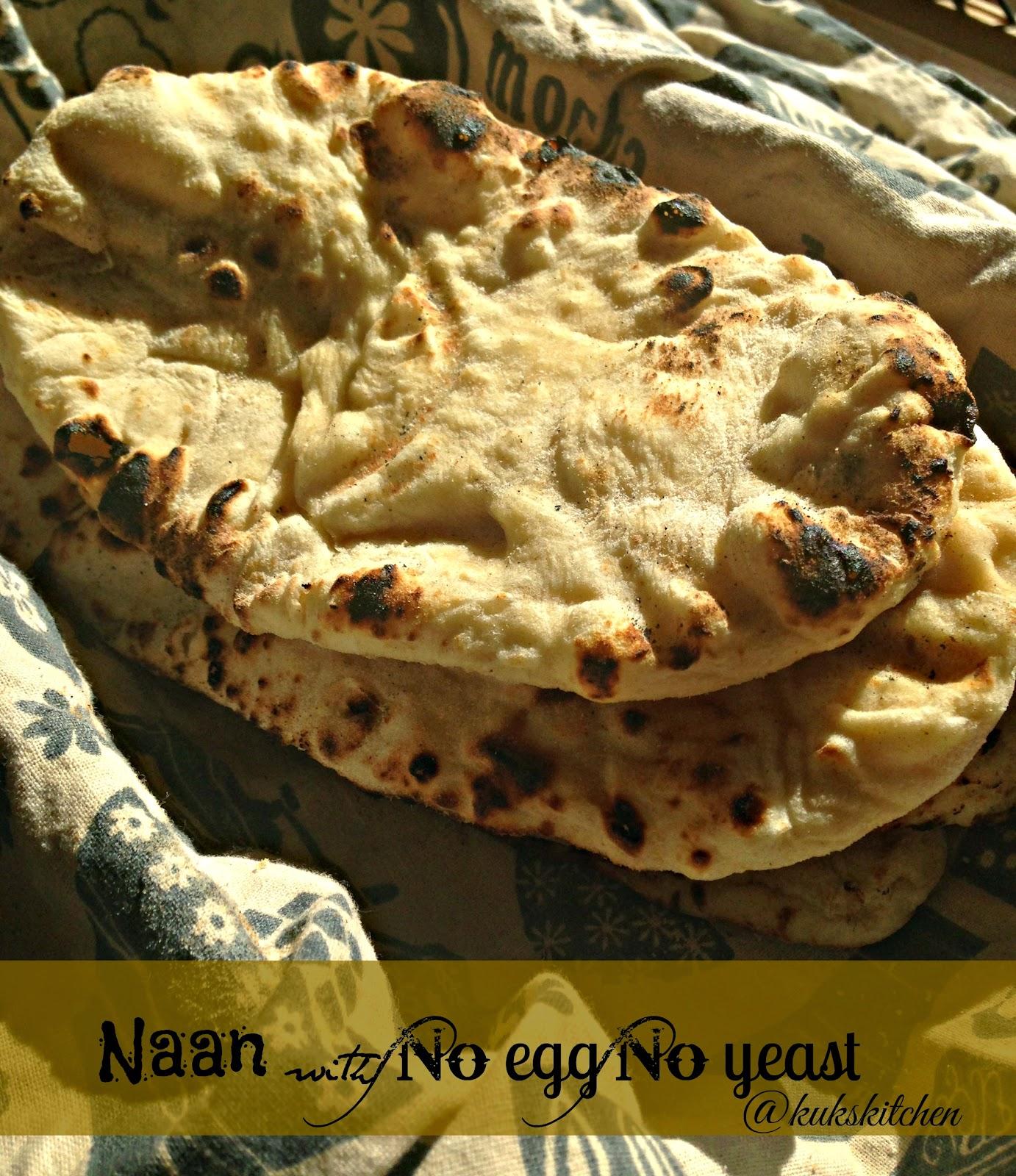 naan no egg no yeast tandoori roti kukskitchen