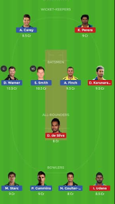 AUS vs SL dream 11 team | SL vs AUS