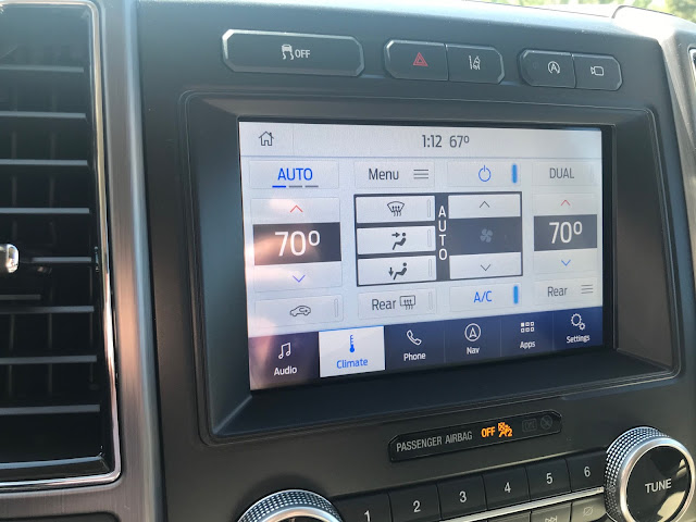 HVAC screen in 2020 Ford Expedition Platinum