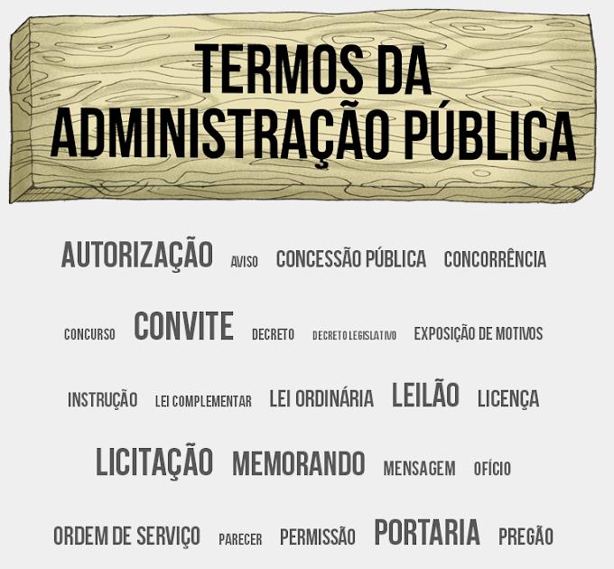 Entenda os termos mais usados na administração pública