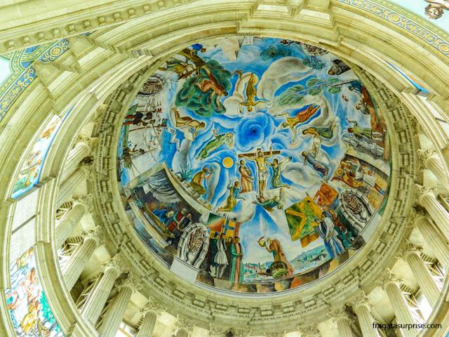 Decoração interna da cúpula do Palau Nacional, Barcelona