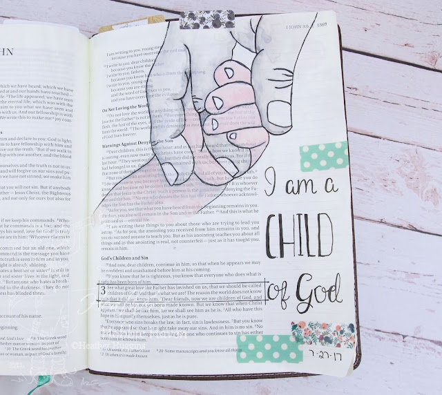 Heather's Hobbie Haven - Illustrated Faith  I AM devotional kit