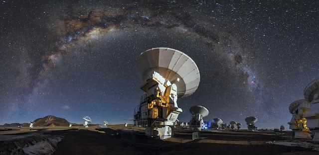 Observatório Alma - Visão da Via Láctea
