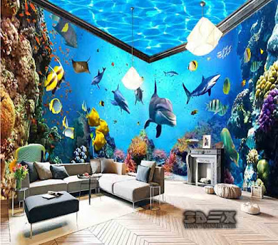 3D wallpaper for walls in living room themes