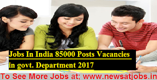 India-85000-Posts-Vacancies-in-govt-Department