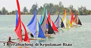 Perahu Jong di Kepulauan Riau merupakan salah satu tradisi unik 17an di berbagai daerah Indonesia