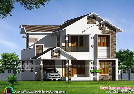 1899 square feet 5BHK modern house plan
