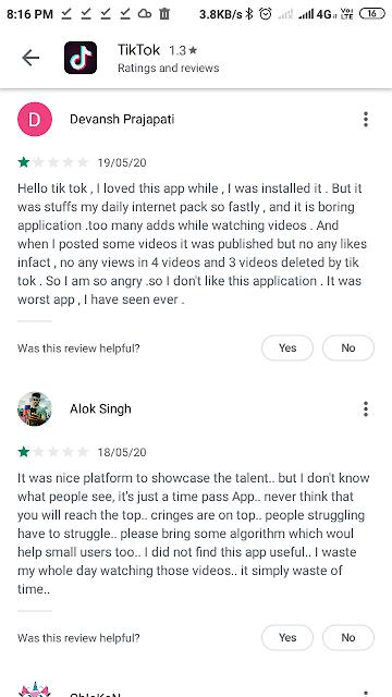 Tik Tok app rating down, why is Tik Tok  rating  drop down? YouTube vs Tik Tok