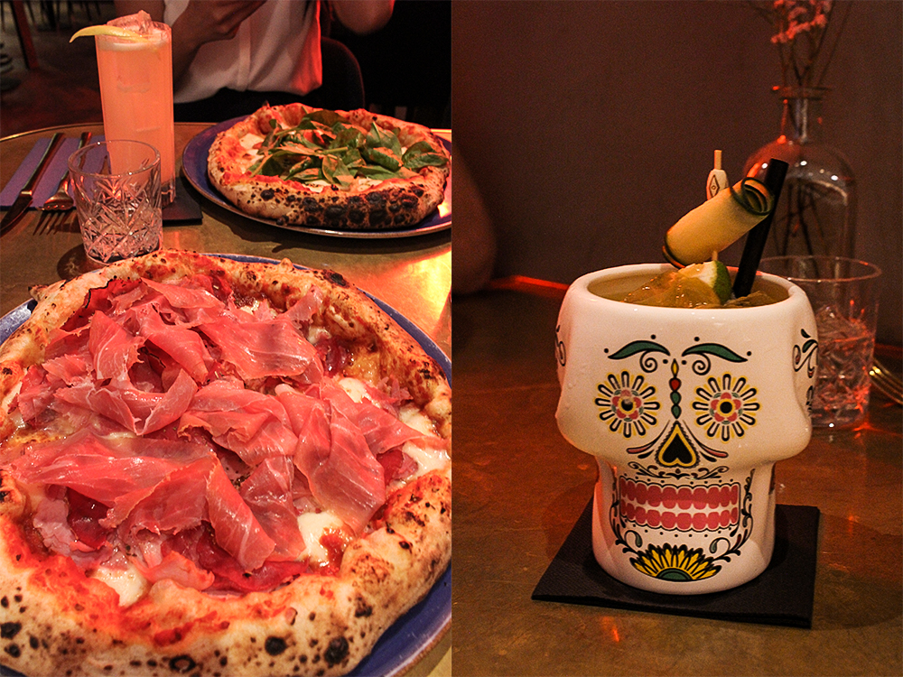 Pizzeria Bokamorra und Cocktail