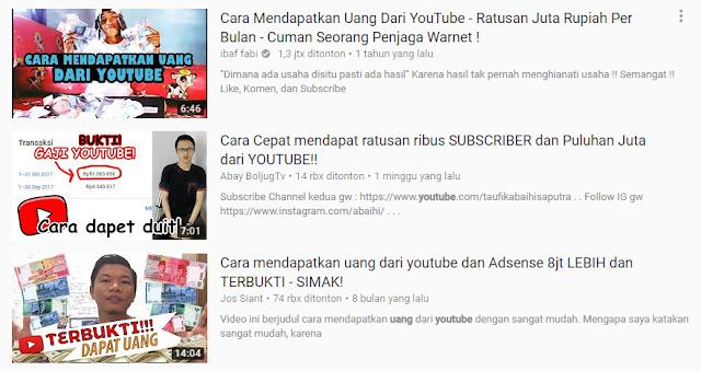 trik menghasilkan uang dari youtube