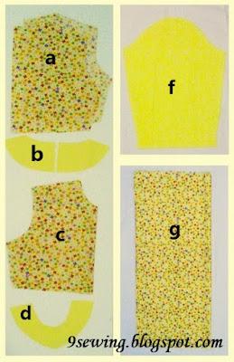 cara membuat pola gamis anak perempuan