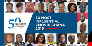 Finalist for 2019 50 Most Influential CMOs in Ghana Announced,Interestingly 21 Of The 50 People Listed Are Women