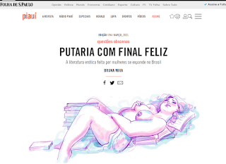 Matéria com Nana Pauvolih na revista Piauí - A literatura erótica feita por mulheres se expande no Brasil