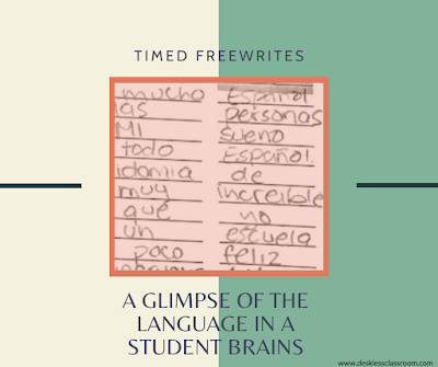 Timed Freewrites: A glimpse into the language in students' heads