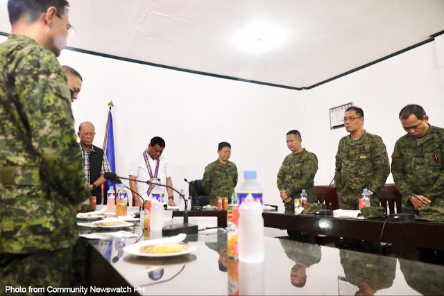 President Duterte guides the military as he went in 'stealth mode'