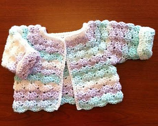 free new born crochet cardigan pattern to download and print