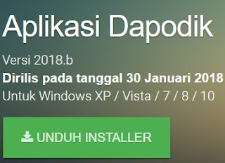 CARA INSTAL DAPODIK TERBARU 2018b / APLIKASI VERSI DAPODIK 2018.b