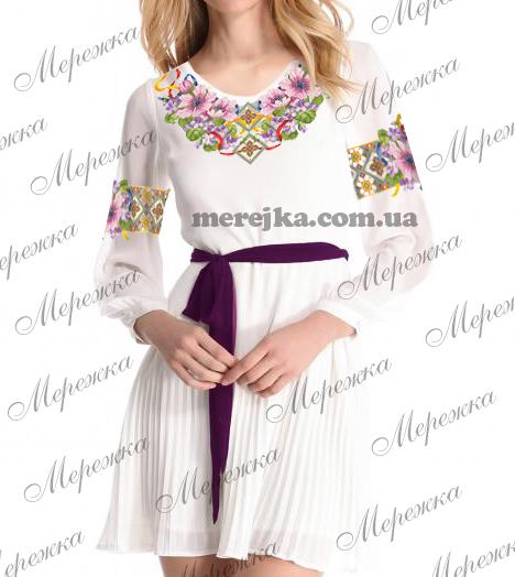171cc79275341f Кольорова символьна схема для вишивання жіночої блузи. Арт. 12-40. Формат  А3. Розроблена в палітрі ДМС. Купити схему можна у інтернет-магазині