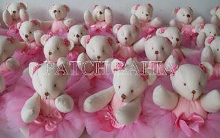 Ursinhas Bailarinas para Lembrancinhas e Decoração de quarto de Bebê…