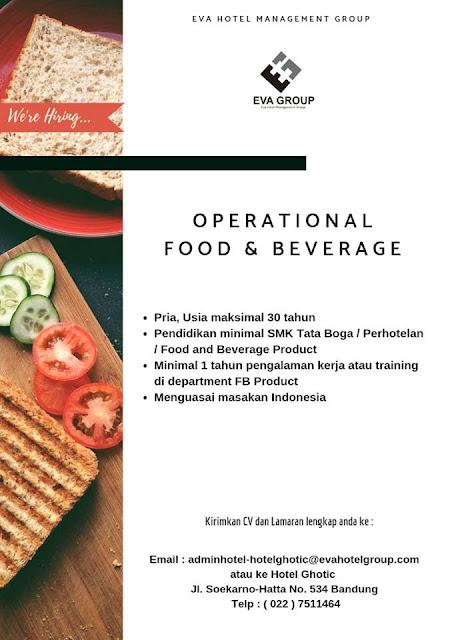Loker Operational Food & Bererage Hotel Ghotic