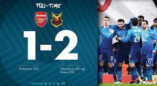 Arsenal vs Oestersunds 1-2 Liga Europa Highlights