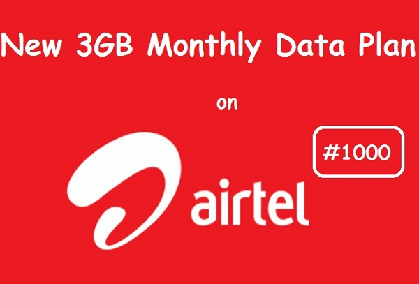 Airtel N1000 for 3GB Monthly Data