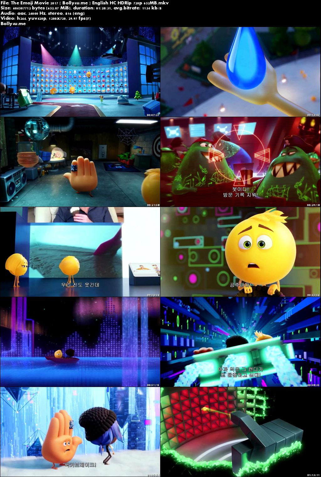 The Emoji Movie 2017 HC HDRip 250MB Full English Movie Download 480p