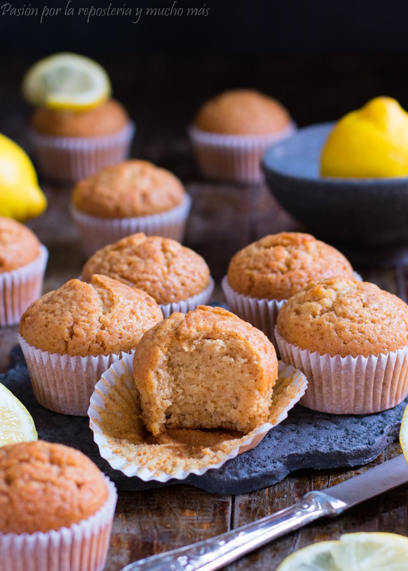 Magdalenas caseras de limón y miel