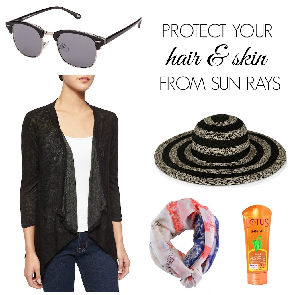 Protection From Sun, SPF, Sunscreen, Sunglasses, Floppy Hat, Shrug, Scarf, Tanvii.com