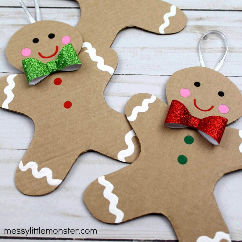 Cardboard Gingerbread Man Craft Template