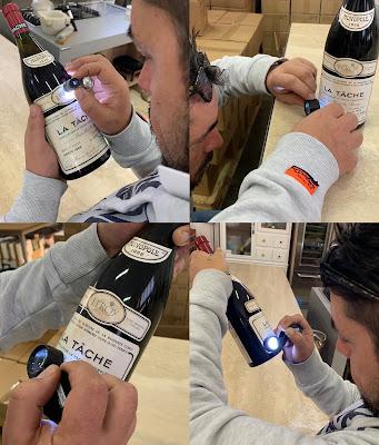 Expertise bottiglia vino asta