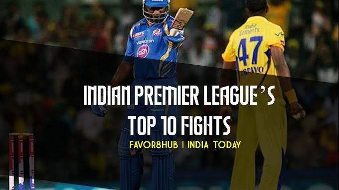 Indian Premier League's top 10 fights