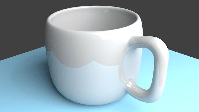 Hasil render dengan blender