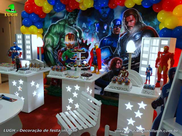 Decoração de aniversário Os Vingadores - Festa infantil